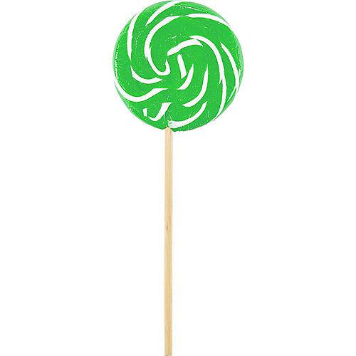 Large Kiwi Green Swirly Lollipops 6ct Image #1