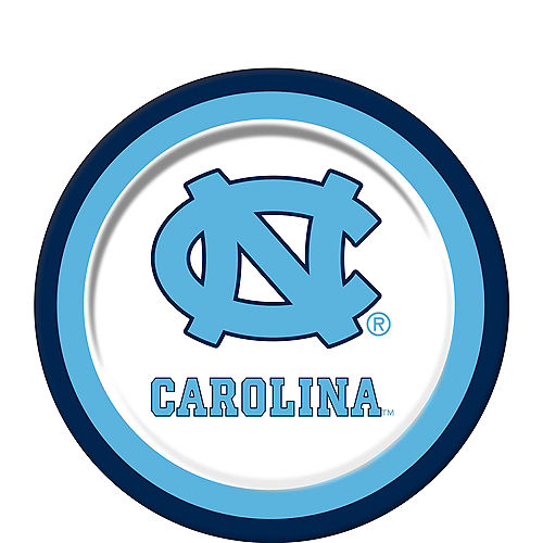 North Carolina Tar Heels Dessert Plates 12ct Image #1