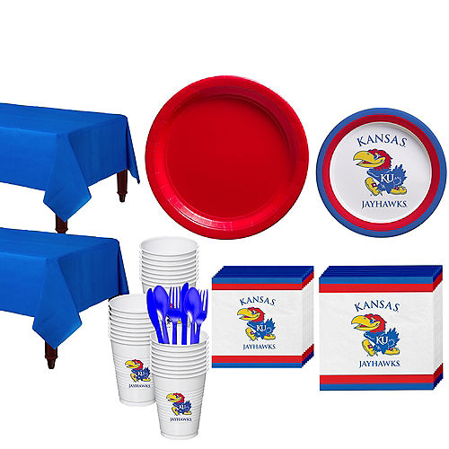Kansas Jayhawks Party Kit for 40 Guests Image #1