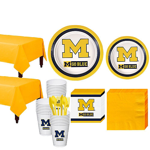 Michigan Wolverines Party Kit for 40 Guests Image #1