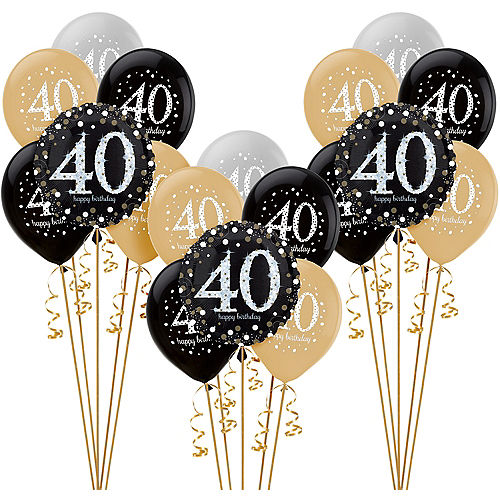 Sparkling Celebration 40th Birthday Balloon Kit Image #1