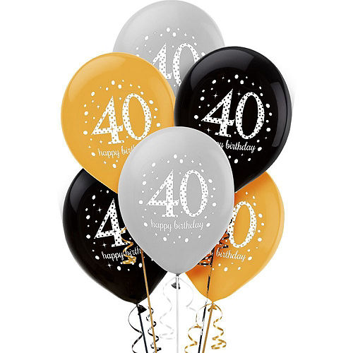 Sparkling Celebration 40th Birthday Balloon Kit Image #2