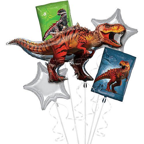 T-Rex Balloon Bouquet 5pc - Jurassic World Image #1