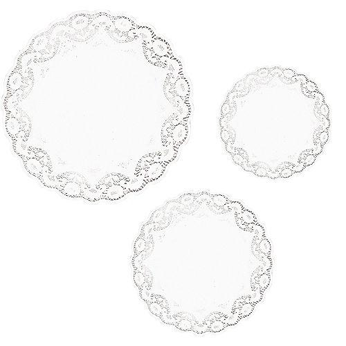 White Round Doilies 18ct Image #1