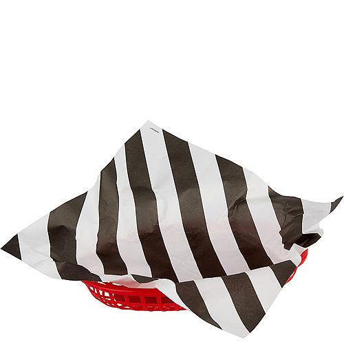 Black & White Striped Basket Liners 16ct Image #1