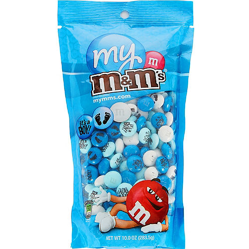 Nav Item for Blue Boys Baby Shower Milk Chocolate M&M's Image #1