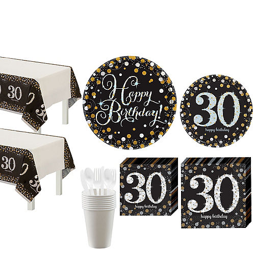 Sparkling Celebration 30th Birthday Party Kit for 16 Guests Image #1
