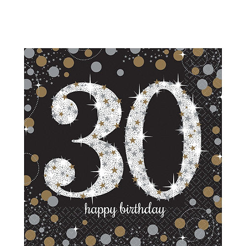Sparkling Celebration 30th Birthday Party Kit for 16 Guests Image #5