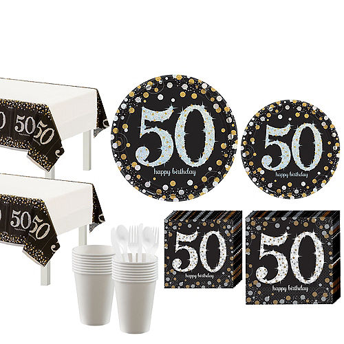 Sparkling Celebration 50th Birthday Party Kit for 16 Guests Image #1