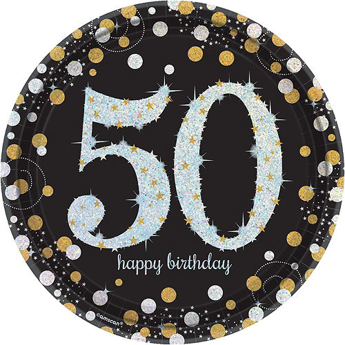 Sparkling Celebration 50th Birthday Party Kit for 16 Guests Image #3