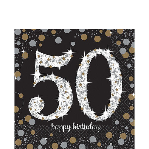 Sparkling Celebration 50th Birthday Party Kit for 16 Guests Image #5