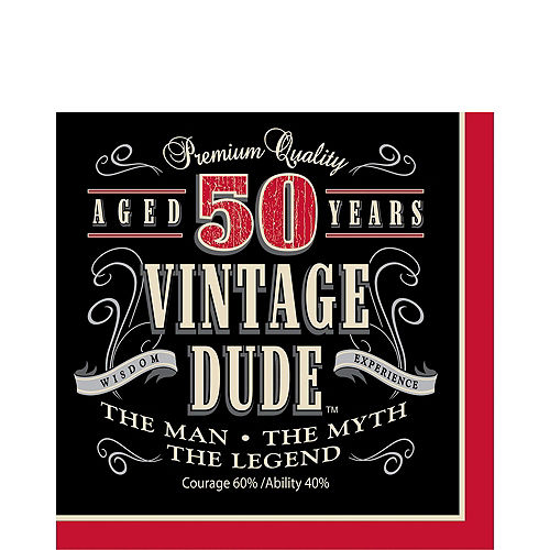 Vintage Dude 50th Birthday Party Kit for 16 Guests Image #5