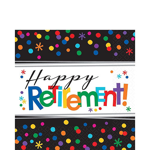 Happy Retirement Celebration Party Kit for 16 Guests Image #5