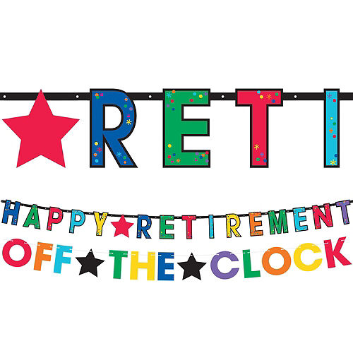 Happy Retirement Celebration Party Kit for 16 Guests Image #9
