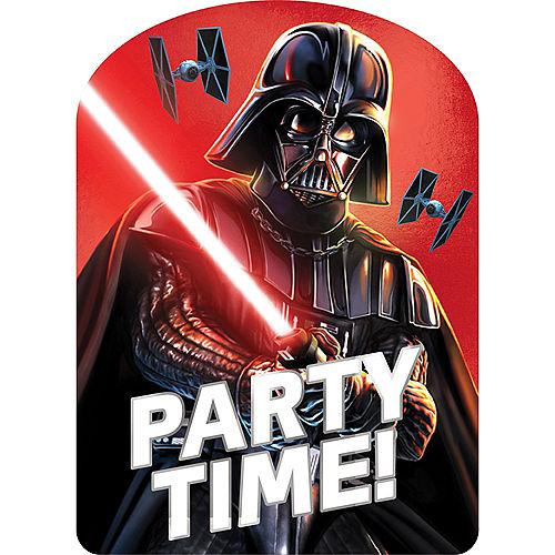 Premium Darth Vader Invitations 8ct Image #1