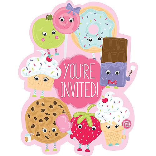 Premium Smiley Dessert Invitations 8ct Image #1