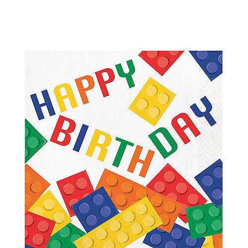 Building Blocks Birthday Lunch Napkins 16ct Image #1