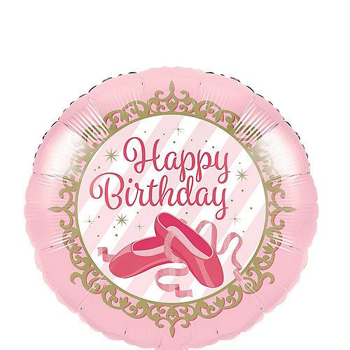 Ballerina Birthday Balloon, 18in Image #1