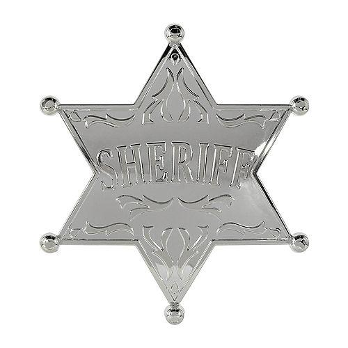 Large Western Sheriff Badge Image #1