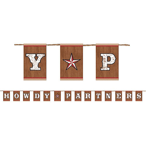 Howdy Partners Yeehaw Western Letter Banner Image #1