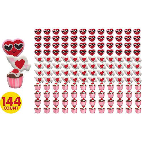 Valentine's Day Mini Erasers 144ct Image #1