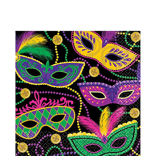Masquerade Mardi Gras Lunch Napkins 16ct Image #1