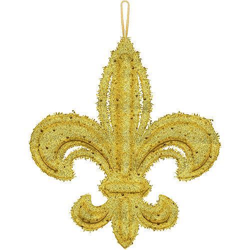 Glitter Gold Fleur-de-Lis Decoration Image #1