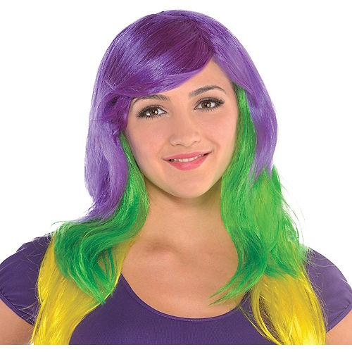 Glamorous Mardi Gras Wig Image #1