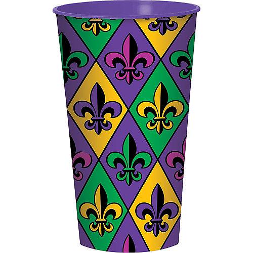 Mardi Gras Plastic Cup Image #1