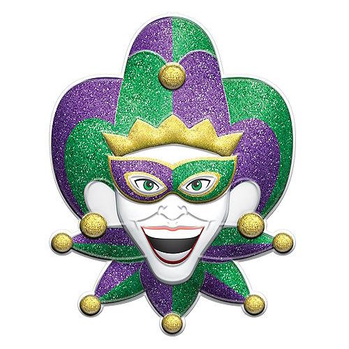 Glitter Mardi Gras Jester Sign Image #1