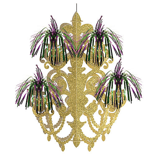 Mardi Gras Fireworks Chandelier Decoration Image #1