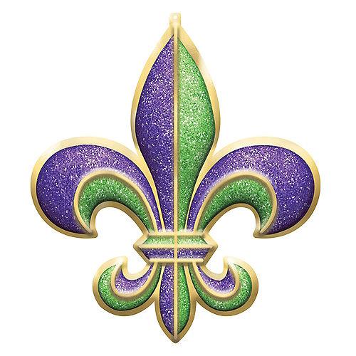 Giant Glitter Fleur-de-Lis Sign Image #1
