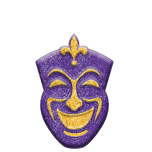 Nav Item for Glitter Mardi Gras Comedy Mask Sign Image #1
