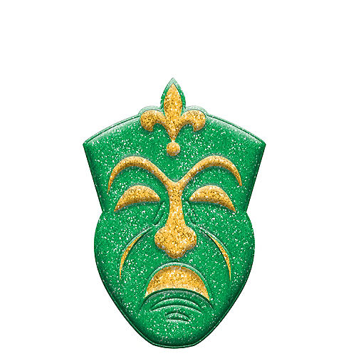 Glitter Mardi Gras Tragedy Mask Sign Image #1