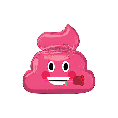 Pink Poop Icon Balloon, 25in Image #1