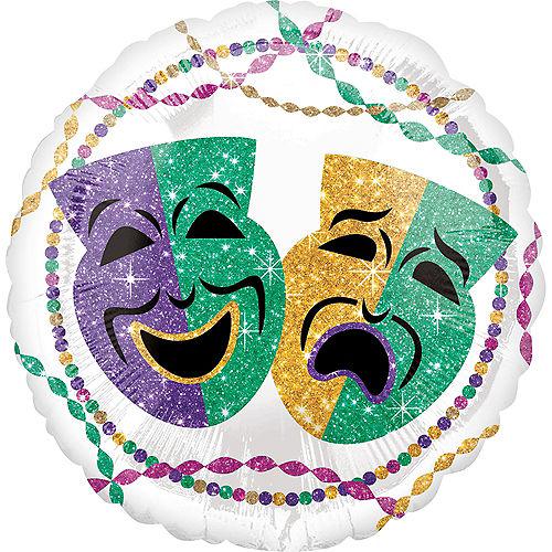 White Mardi Gras Balloon Image #1