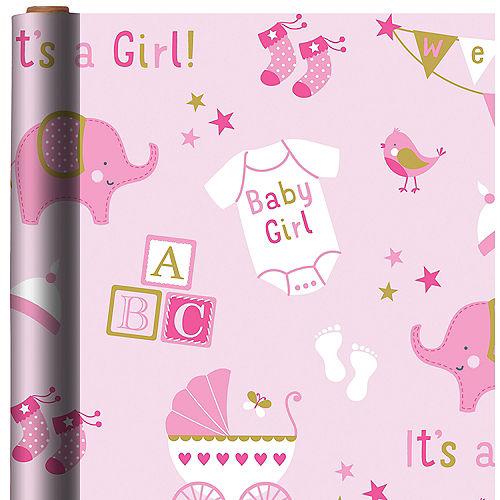 Girl Baby Shower Gift Wrap Image #1
