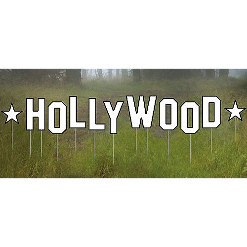 White Hollywood Yard Sign Set 11pc Image #1