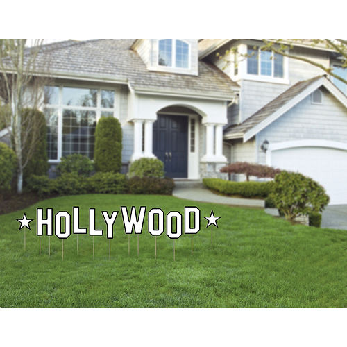 White Hollywood Yard Sign Set 11pc Image #2
