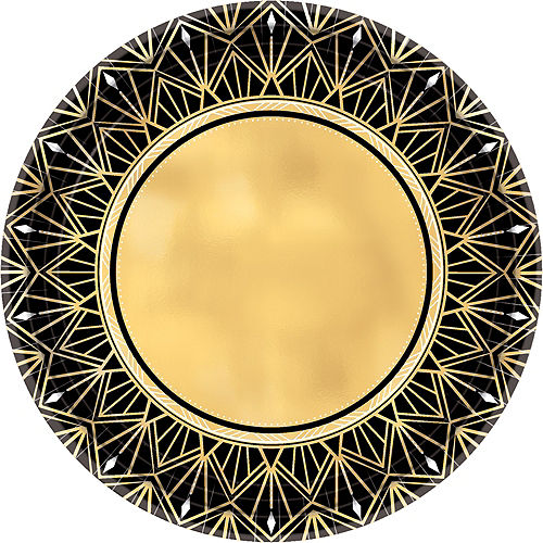 Metallic Hollywood Dinner Plates 8ct Image #1