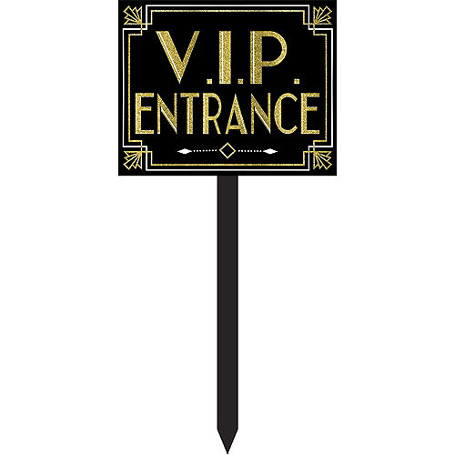 Glitter Hollywood VIP Entrance Yard Stake Image #1