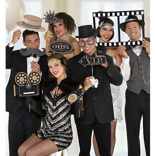 Giant Hollywood Photo Booth Props 12ct Image #1