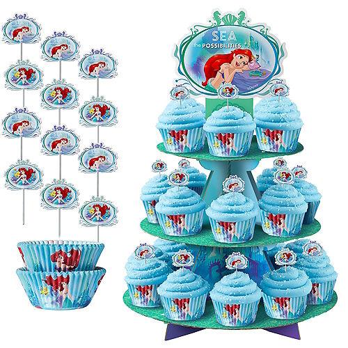 Little Mermaid Cupcake Kit for 24 Image #1