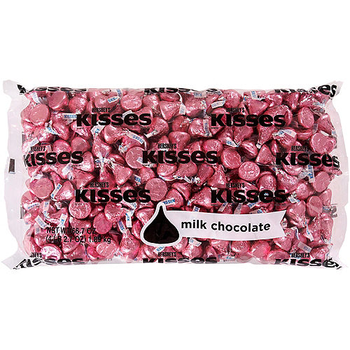 Pink Milk Chocolate Hershey's Kisses 410ct Image #1