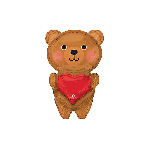Giant Personalized Heart Teddy Bear Balloon Image #1