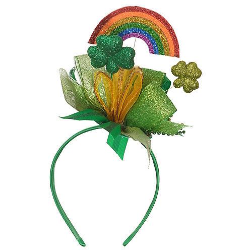 Glitter Rainbow & Shamrocks St. Patrick's Day Headband Image #1