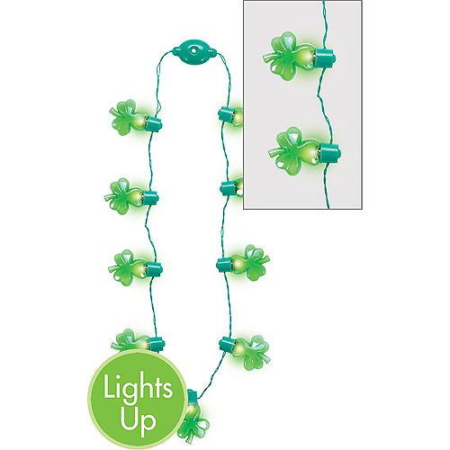 Light-Up Shamrock Necklace Image #1
