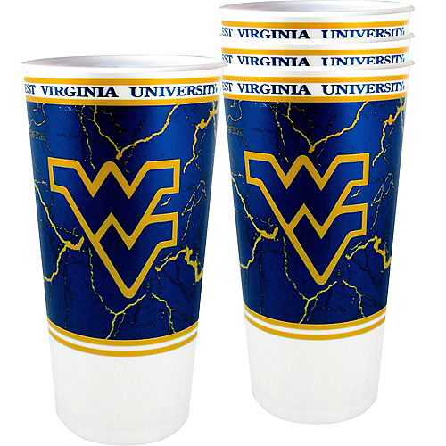 West Virginia Mountaineers Plastic Cups 4ct Image #1