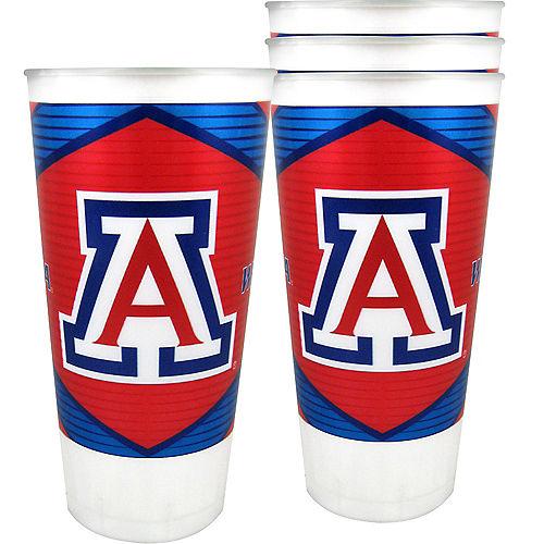 Arizona Wildcats Plastic Cups 4ct Image #1
