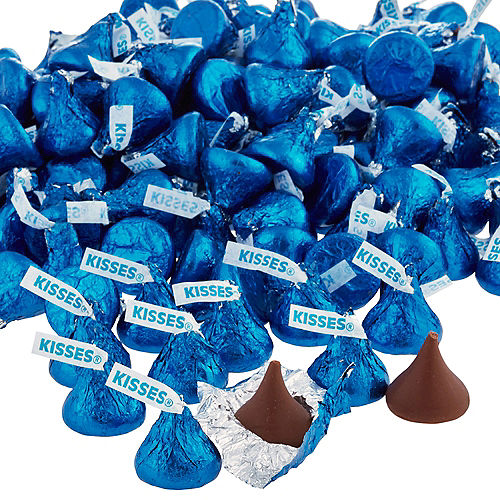 Royal Blue Milk Chocolate Hershey's Kisses 410ct Image #2